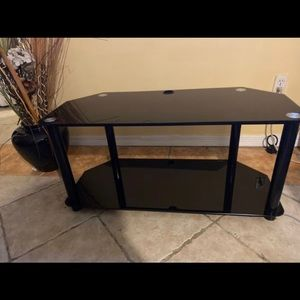 Black Glass TV stand up to 55 in TV